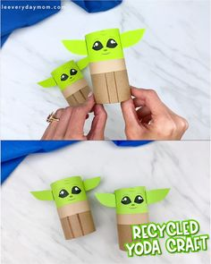 This toilet paper roll Baby Yoda is a fun and easy Star Wars craft for kids to make! It comes with a free printable template so it's easy for children in preschool, pre k and kindergarten to make. Crafts For Kids To Make, Craft Activities For Kids, Preschool Crafts, Kids Crafts, Preschool Kindergarten, Crafts With Baby, Crafts For Children, Spanish Activities, How To Make
