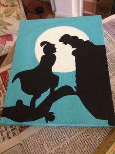 Jasmine and Aladdin canvas disney canvas Aladdin Disney Canvas Paintings, Disney Canvas Art, Mini Canvas Art, Diy Canvas, Disney Art, Jasmine E Aladdin, Disney Jasmine, Silhouette Art, Disney Silhouette Painting