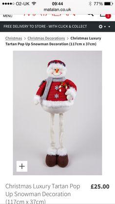 Matalan snowman