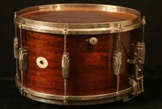 """Vintage Ludwig 14 x Standard model Mahogany """"Swing"""" snare drum Ludwig Drums, Vintage Drums, Drummer Boy, Snare Drum, Percussion, Musical Instruments, Drummers, Engine, Model"""