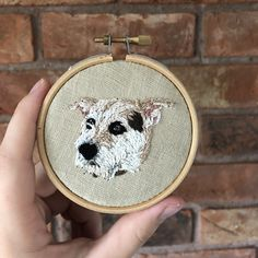 Your place to buy and sell all things handmade Portrait Embroidery, Embroidery Art, Embroidery Designs, Hessian Fabric, Linen Fabric, Wooden Embroidery Hoops, Pet Loss, Animal Faces, Pet Memorials