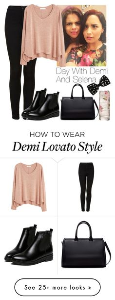 """""""Day with Demi and Selena"""" by lovatic92 on Polyvore featuring Topshop, MANGO, Zara, WithChic and Miss Selfridge"""