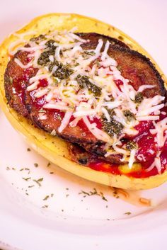 Spaghetti Squash Eggplant Parmesan Recipe by Emily Kyle Nutrition