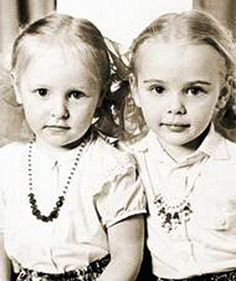 Vladimir Putin's daughters Ekaterina (left) and Maria (right) during their…