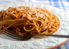 Searching for a fun twist on classic spaghetti? Creamy Tomato Pasta, a delicious five ingredient recipe, adds cream cheese for a flavorful and velvety sauce.