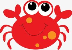 Cartoon Crab Clipart - Clipart Suggest Crab Clipart, Beach Clipart, Cute Octopus, Free Clipart Images, Shark Party, Baby Shark, Cute Drawings, Painted Rocks, Applique