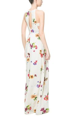 LONG PRINTED DRESS WITH OPENING AT THE BACK from Zara