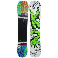 K2 WWW (World Wide Weapon) Rocker Snowboard, the Snowboard I rented for my first time out. 154cm