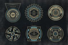 Screenshot of my product in Creative Market. Secret Society Badges and Logo Vol 3