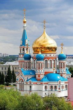 Russian Orthodox Church in Omsk, Russia