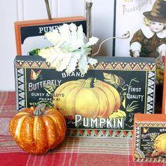 DIY Pumkin Crafts : DIY Vintage Thanksgiving Signs