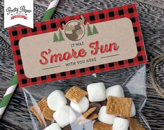 Treat Bag Toppers -Buffalo Plaid Woodland // INSTANT DOWNLOAD ...