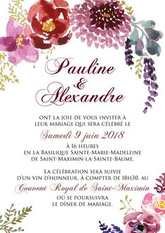 Marsala, Invitations, Bride, Comme, Glamour, Watercolor Wedding, Country Chic Weddings, Lawn And Garden, Wedding Bride