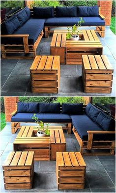 Backyard-Ideas-And-Projects/ pallet outdoor furniture, diy garden furniture, Pallet Garden Furniture, Diy Outdoor Furniture, Furniture Projects, Furniture Plans, Furniture Makeover, Furniture Decor, Barbie Furniture, Furniture Design, Rustic Furniture