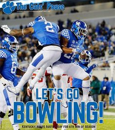 Let's go bowling! University Of Kentucky Football, Kentucky Sports, Uk Football, Kentucky Wildcats, College Football, Uk Basketball, Kentucky Basketball, Red River Gorge, Churchill Downs
