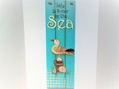 Hand Painted Nautical Plaque      Beach Decor Reclaimed Wood