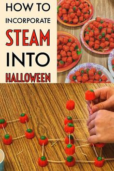 Act as engineers and do STEAM during Halloween in the elementary classroom using Mall-Creme Pumpkins and toothpicks! Act as engineers and do STEAM during Halloween in the elementary classroom using Mall-Creme Pumpkins and toothpicks! Science Halloween, Halloween Activities For Kids, Steam Activities, Autumn Activities, Classroom Activities, Classroom Ideas, Halloween Class Party, Preschool Classroom, Science Activities