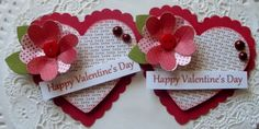 Valentine Heart Paper Embellishments-Set Of 2 on Etsy, $3.99
