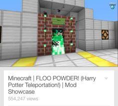 DanTDM Harry Potter Minecraft Awesome Floo Powder Mod Showcase