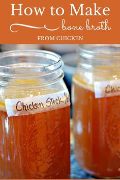 Learn how to make Bone Broth from chicken, All you need is a chicken carcass and some vegetables. My Bubby taught me to make this incredible chicken bone broth recipe, aka, chicken stock. In our family we call it Jewish Penicillin. Chicken Bone Broth Recipe, Bone Broth Soup, Making Bone Broth, Beef Broth, Canning Recipes, Soup Recipes, Chicken Recipes, Cooker Recipes, Gastronomia