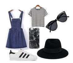 """""""Untitled #35"""" by hlh14 on Polyvore featuring adidas, Maison Michel, Le Specs and Casetify"""