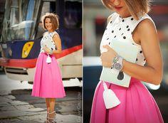 Упс... В июле 31 день? feminine outfit with scuba midi skirt by GalantGirl.com