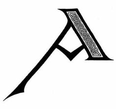 Via @jamacjamac A Celtic version of letter A from an illustrator's blog, http://www.creativeliz.wordpress.com