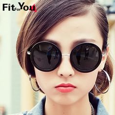 New 2014 Vintage Round Polarized Sunglasses For Women Free Shipping $34.96
