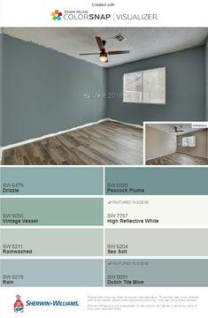 Guest room paint option: Dutch tile blue and reflective white trim Guest Room Paint, Interior Paint Colors For Living Room, Room Paint Colors, Paint Colors For Home, Bedroom Colors, Wall Colors, House Colors, Colours, Family Room Colors