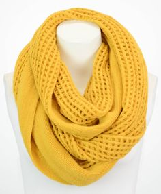 Look at this Leto Collection Mustard Open-Grid Infinity Scarf on today! Love Fashion, Fashion Looks, Womens Fashion, Semi Formal Attire, Fall Outfits, Fashion Outfits, Confident Woman, Looking For Women, My Wardrobe