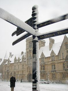 Where are you going?   Snow in Oxford