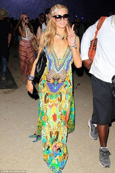 Already ready to party! Paris Hilton was out in force at Coachella Festival in Colorado on...