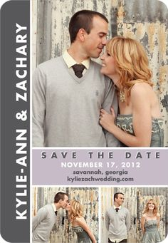 Save the Date Magnets - Chic Couple by Wedding Paper Divas
