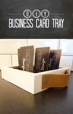 DIY Business Card Box - A great way to display your business cards