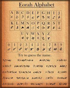Eorah Alphabet by Hiorou: