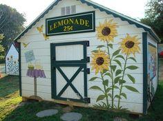 outdoor sunflower mural