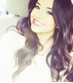 Becky G love the curls and the make up look