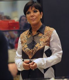 Splurge: Kris Jenner's Selfridges Shopping Trip Givenchy Brown And Red Paisley Print Silk Blouse - The Fashion Bomb Blog : Celebrity Fashion, Fashion News, What To Wear, Runway Show Reviews