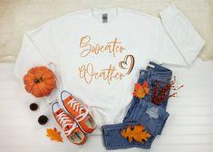 Sweater Weather Sweatshirt Cute Fall Sweatshirt Pumpkin | Etsy