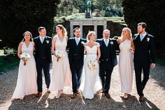 Lovely outdoor wedding with pink palette and classic lace gown. Wedding Favors, Wedding Ceremony, Wedding Venues, Wotton House, Bridesmaid Dresses, Wedding Dresses, Bridesmaids, Pink Palette, Spring Colors
