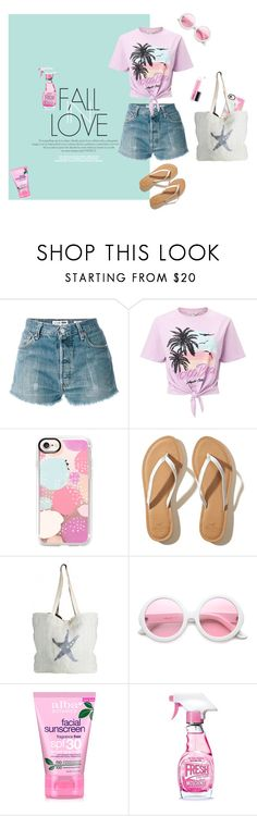 """""""Summer Fun"""" by lifestylestories ❤ liked on Polyvore featuring RE/DONE, Miss Selfridge, Casetify, Hollister Co., ASPIGA, ZeroUV, Alba Botanica and Moschino"""