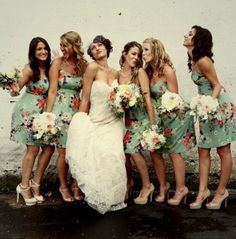 Top at the moment - floral bridesmaid dresses