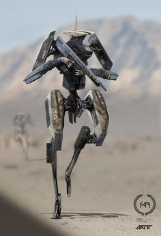 Stinger 808 on Behance by Daytoner . Futuristic Armour, Futuristic Art, Android Robot, Rpg Star Wars, Military Robot, Arte Cyberpunk, Arte Robot, Future Soldier, Robot Concept Art