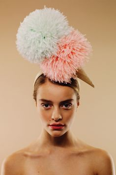 Doppio headpiece   AWON GOLDING MILLINERY   London based milliner specialising in women's occasion and wedding hats   www.awongolding.com