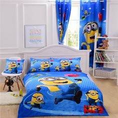 Cheap Minions Bedding Minions Bed Sets Minions Bedding Sets Blue Cottton Bedding Twin Full Queen Size Nice Gift For Kids
