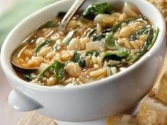 Popeye Crockpot Soup - A healthy main-dish soup that's simple to prepare when you make it in your crock-pot--just add all ingredients and check back after 6 hours.