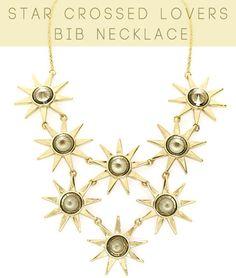 Ever Eden Star Crossed Lovers Bib Necklace