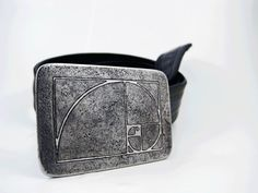 Golden Ratio Belt Buckle  Etched Stainless Steel  by RhythmicMetal, $60.00