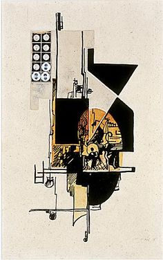 Hannah Hoch DADA Collage 1918 Signed and dated