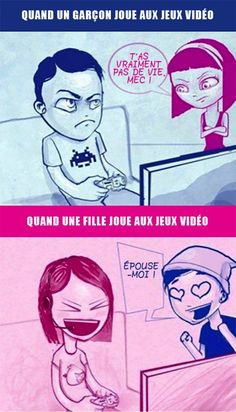 Attractions to Boy vs Girl gamers. funny but I like Gamers Funny Dog Photos, Funny Dog Videos, Funny Pictures, Funny Cartoons, Funny Jokes, Hilarious, Gamer Jokes, It's Funny, Sms Fails